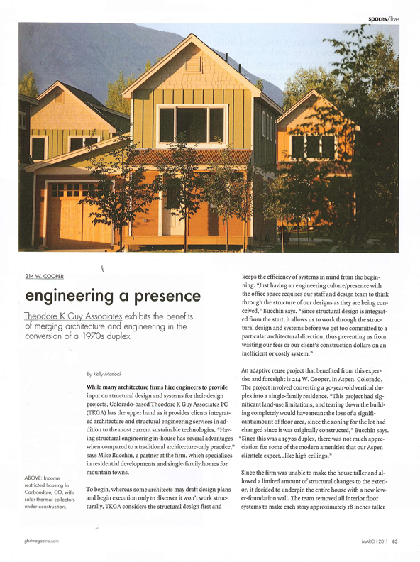 Aspen Architects TKGA GB&D Article